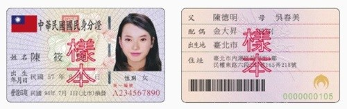 線上刷卡換現金 身分證範本